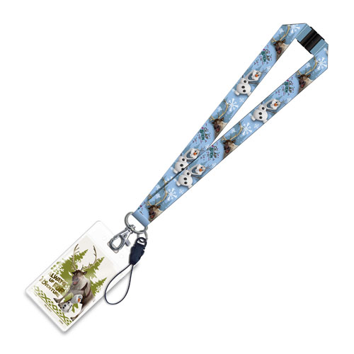 Disney Frozen Olaf the Snowman and Sven Lanyard Key Chain