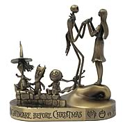 Paperweights > Nightmare Before Christmas - Celebrate Christmas and Halloween...any time of year! A stunning bronze paperweight set featuring Jack Skellington, Sally, Lock, Shock and Barrel from  The Nightmare Before Christmas . Style up your home or office! Nightmare Before Christmas Jack, Sally, Lock, Shock and Barrel Bronze Paperweight Set. Accessorize your office with great Nightmare Before Christmas Style! These stunning bronze paperweights feature your favorite characters from  The Nightmare Before Christmas ! Each paperweight can be used separately, or fit together for display! Measure approximately 4-inches tall x 3 1/2-inches wide x 2 3/4-inches long. Can also be used as a great holiday decoration - order yours today!: Sizes