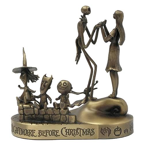 NBX Jack, Sally, Lock Shock & Barrel Bronze Paperweight Set