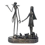 Paperweights > Nightmare Before Christmas - Celebrate Christmas and Halloween...any time of year! A stunning bronze paperweight set featuring Jack Skellington, Sally, Lock, Shock and Barrel from  The Nightmare Before Christmas . Style up your home or office! Nightmare Before Christmas Jack Skellington and Sally Bronze Paperweight Set. Accessorize your office with great Nightmare Before Christmas Style! These stunning bronze paperweights feature your favorite characters from  The Nightmare Before Christmas ! Each paperweight can be used separately, or fit together for display! Measure approximately 4-inches tall x 4-inches wide x 2-inches long. Packaged in a coffin-shaped box, and includes a certificate of authenticity. Can also be used as a great holiday decoration - order yours today!: Sizes