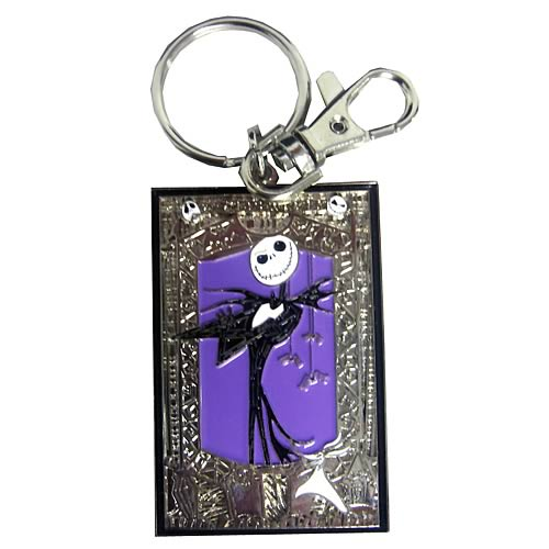 NBX Jack Skellington Portrait Color Pewter Key Chain