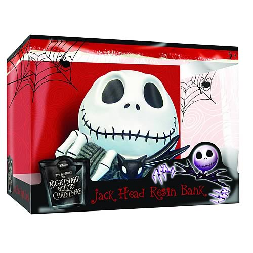 Nightmare Before Christmas Jack Skellington Head Resin Bank