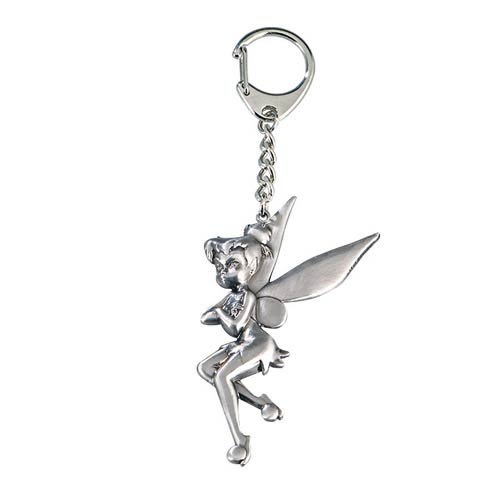 Peter Pan Tinker Bell Arms Crossed Pewter Key Chain