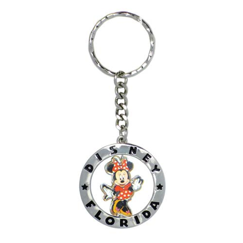 Minnie Mouse Figural Spinner Disney Florida Pewter Key Chain