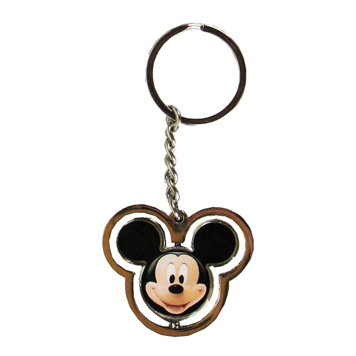 Mickey Mouse Head Spinner Key Chain