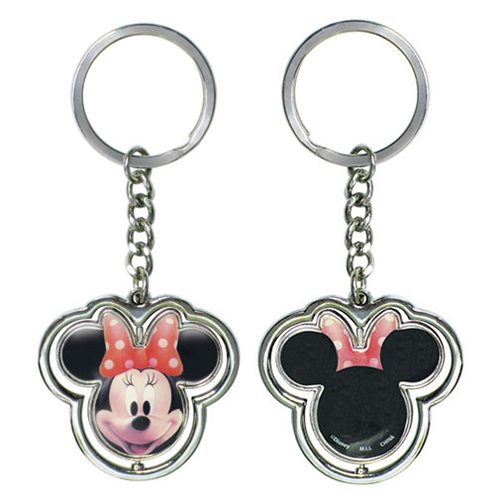 Minnie Mouse Head Spinner Key Chain