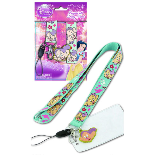 Snow White and the Seven Dwarfs Dopey Lanyard