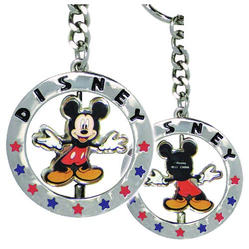 Mickey Mouse Full Figural Spinner Key Chain with Star Design
