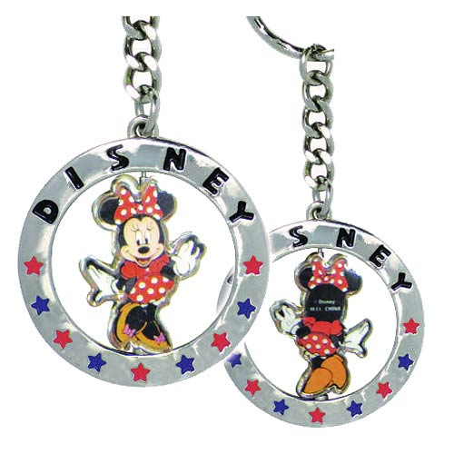Minnie Mouse Full Figural Spinner Key Chain with Star Design