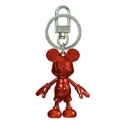 Mickey Mouse January Garnet Pewter Dangle Key Chain