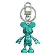 Mickey Mouse March Aquamarine Pewter Dangle Key Chain