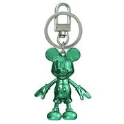 Mickey Mouse May Emerald Pewter Dangle Key Chain