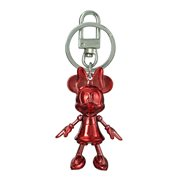 Minnie Mouse January Garnet Pewter Dangle Key Chain