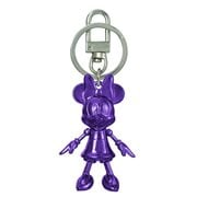 Minnie Mouse February Amethyst Pewter Dangle Key Chain