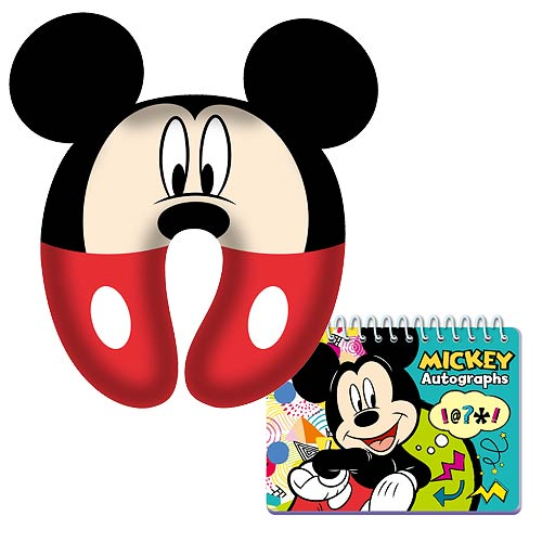 Mickey Mouse Comfy Pillow and Autograph Book