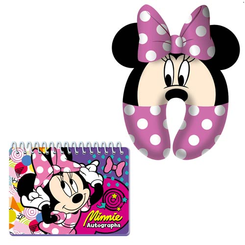 Minnie Mouse Pink Neck Pillow and Autograph Book