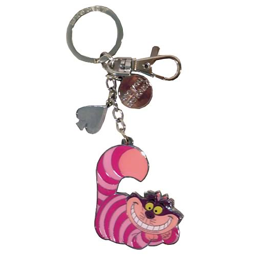 Alice in Wonderland Cheshire Cat Dangle Pewter Key Chain