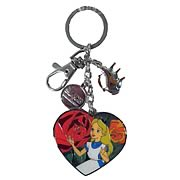 Alice in Wonderland Golden Afternoon Dangle Pewter Key Chain
