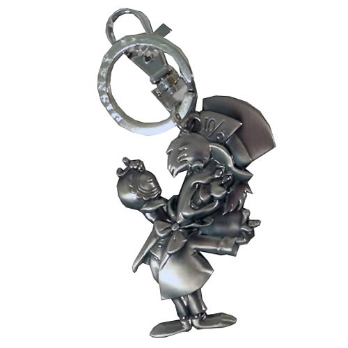 Alice in Wonderland Mad Hatter Pewter Key Chain