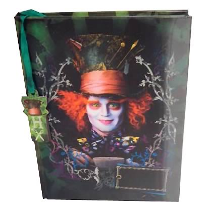 Alice in Wonderland Mad Hatter Lenticular Journal & Bookmark
