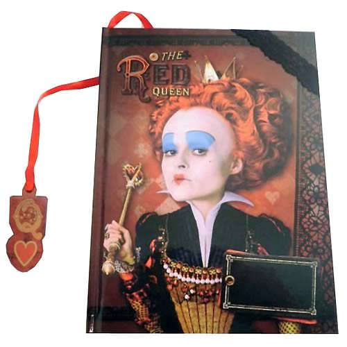 Alice in Wonderland Red Queen Lenticular Journal & Bookmark