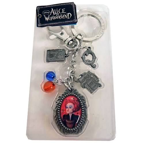 Alice in Wonderland Red Queen Pewter Charms Key Chain