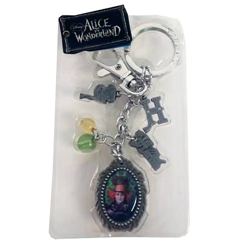 Alice in Wonderland Mad Hatter Pewter Charms Key Chain