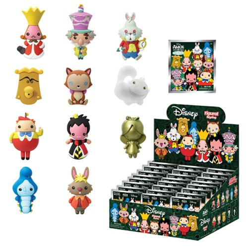 Alice in Wonderland 3-D Figural Key Chain 6-Pack