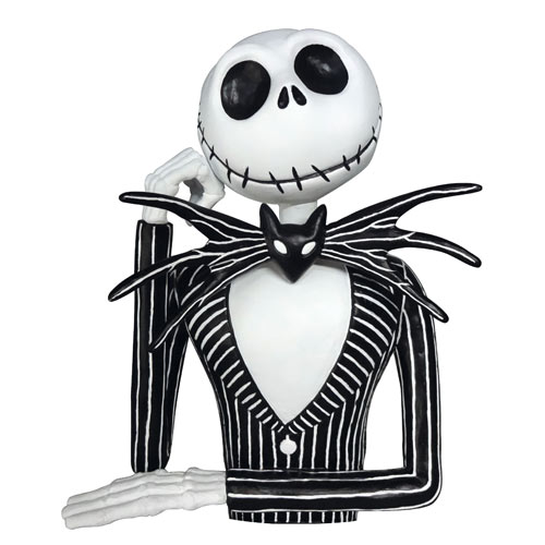 Nightmare Before Christmas Jack Skellington Bust Bank - Monogram ...