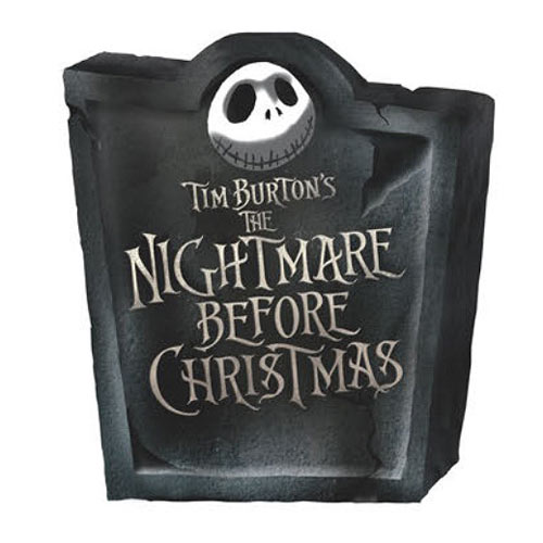 Nightmare Before Christmas Movie Logo Tombstone Bank