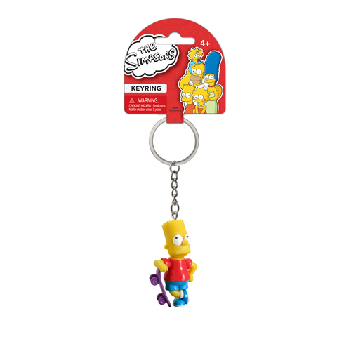 The Simpsons Bart with Skateboard 3-D Mini-Figure Key Chain
