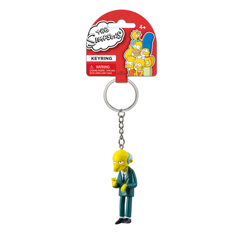 The Simpsons Montgomery Burns 3-D Mini-Figure Key Chain