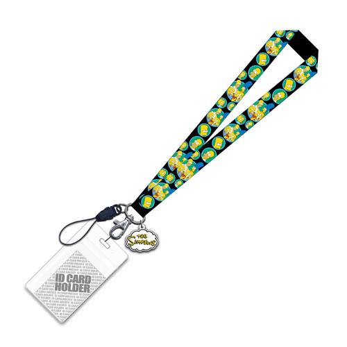 The Simpsons Family Lanyard with Charm