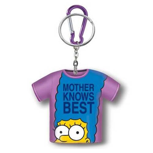 Simpsons Marge Mother Knows Best Shirt Coin Holder Key Chain