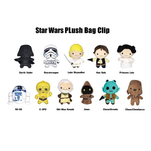 Star Wars Plush Bag Clip Display Case