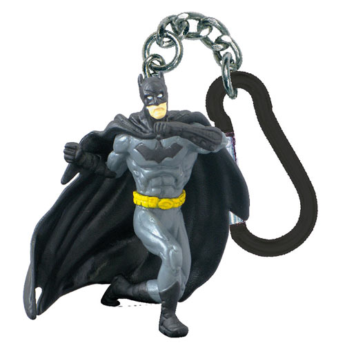 Batman Punching DC Comics Mini-Figure Key Chain