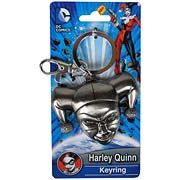 Batman Harley Quinn Head Pewter Key Chain