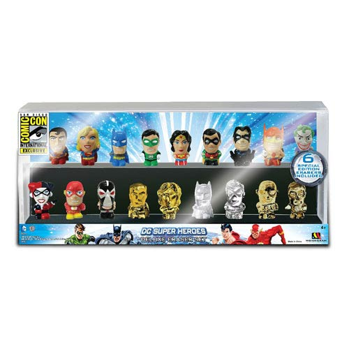 DC Superheroes SDCC 2013 Exclusive Eraser Set