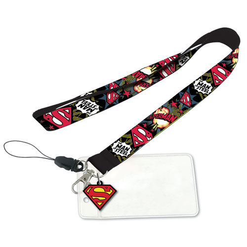 Superman Lanyard with ID Holder