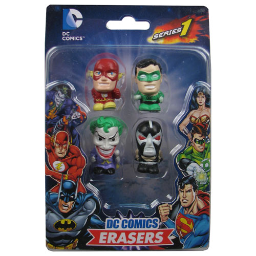 DC Comics Superhero Eraser Set B 4-Pack