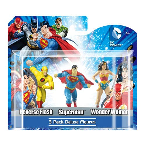 DC Superheroes 4-Inch Mini-Statue Set C 3-Pack