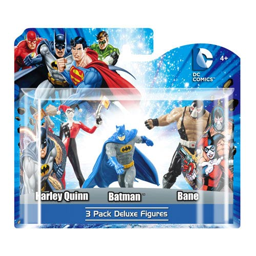 DC Superheroes 4-Inch Mini-Statue Set D 3-Pack