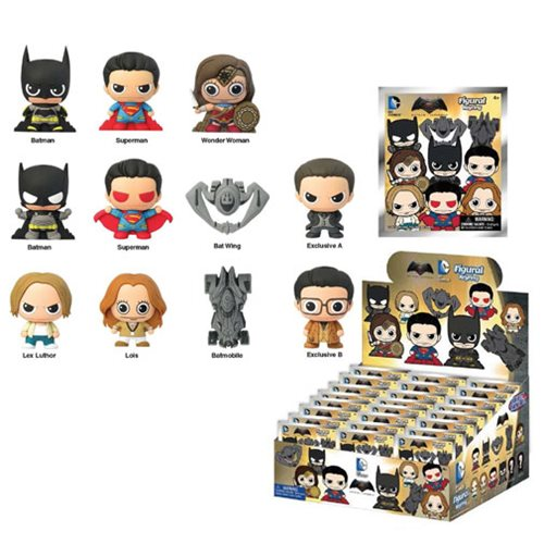 BvS: Dawn of Justice 3-D Figural Key Chain 6-Pack