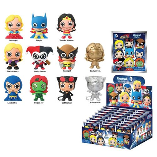 Women of the DC Universe 3-D Figural Key Chain 6-Pack