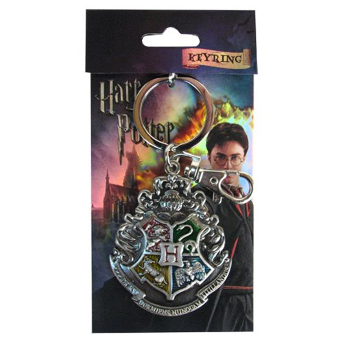 Harry Potter Hogwarts School Crest Pewter Key Chain