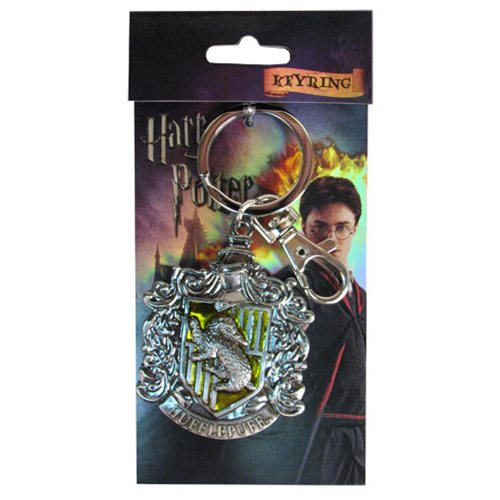 Harry Potter Hufflepuff Crest Pewter Key Chain