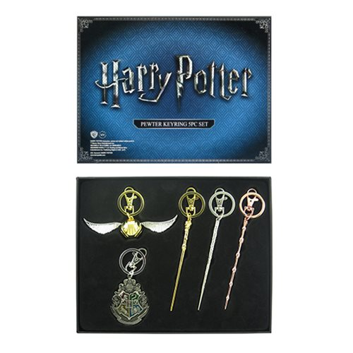 Harry Potter Pewter Key Chain 5-Pack - SDCC 2017 Exclusive