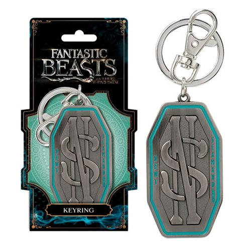 Fantastic Beasts Newt Scamander Logo Pewter Key Chain
