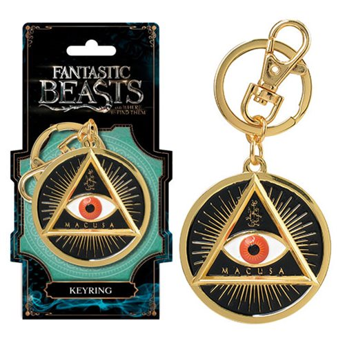 Fantastic Beasts MACUSA Gold Eye Pewter Key Chain