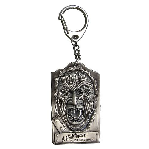 Nightmare on Elm Street Freddy Krueger Face Pewter Key Chain